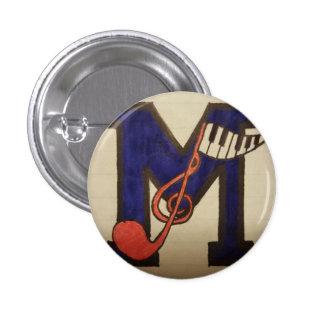 Musikalischer Knopf Runder Button 2,5 Cm