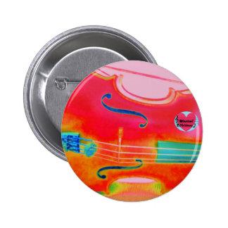 Musikalischer Lebenszeitenroter Cello-rundes Runder Button 5,7 Cm