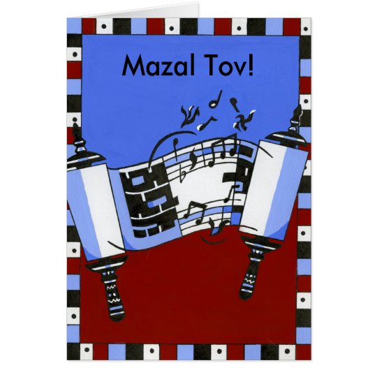 Musikalisches Torah Grußkarte