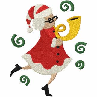 Musikalisches Weihnachten - Frau Klaus Besticktes Kapuzenpulli