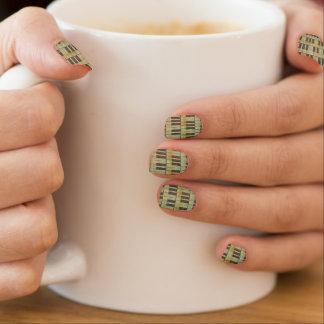 Musikanmerkung Muster-Musik-Themafinger-Nagelkunst Minx Nagelkunst