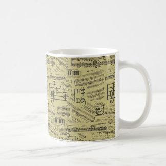 Musikanmerkung Muster-Musikklavier Thema-Tasse Kaffeetasse