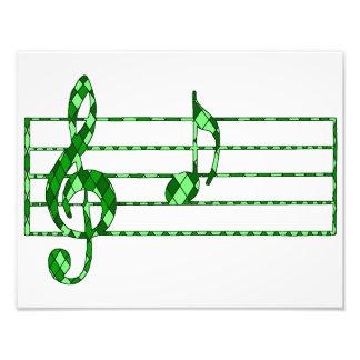Musikanmerkung Photodruck