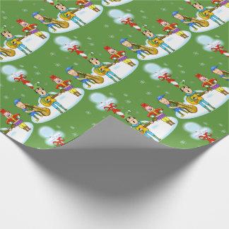 Musiker-Elf-WeihnachtsPackpapier Geschenkpapier