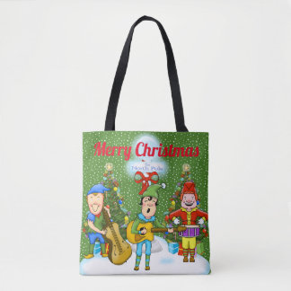 Musiker-Elf-WeihnachtsTaschen-Tasche Tasche