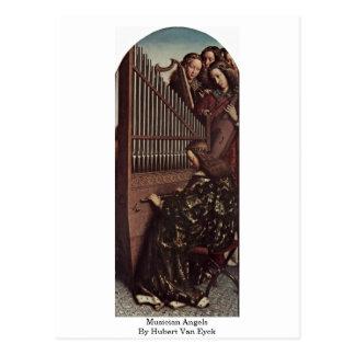 Musiker-Engel durch Hubert Van Eyck Postkarte