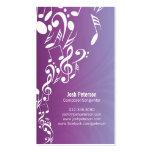 Musiker-Geschäfts-Karten-MusiknotenUpflow Visitenkarten Vorlage