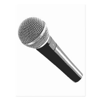 Musiker-Mikrofon Postkarte
