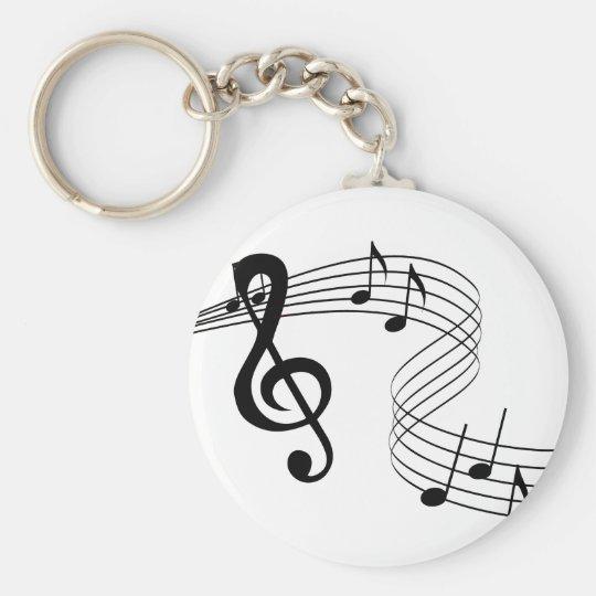 Musiker-Musik-Kerbe Keychain Standard Runder Schlüsselanhänger