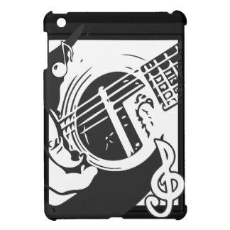 Musikfreund-Gitarren-Spielen Schwarzweiss iPad Mini Hülle