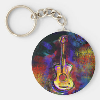 Musikgitarreninstrument Standard Runder Schlüsselanhänger