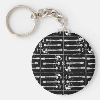 Musikgitarrenmuster Schlüsselanhänger