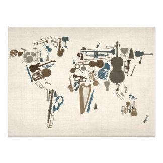 Musikinstrument-Karte der Welt Fotos