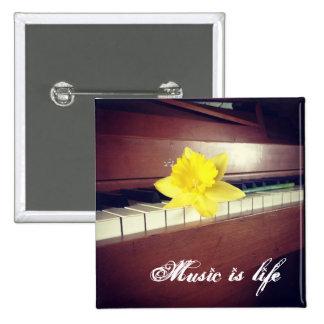 Musikknopf Quadratischer Button 5,1 Cm
