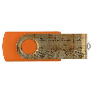 Musiknoten 8 GBs Schwenker USB-Blitz-Antrieb USB Stick