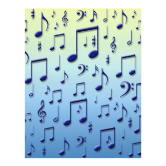 Musiknoten 21,6 X 27,9 Cm Flyer