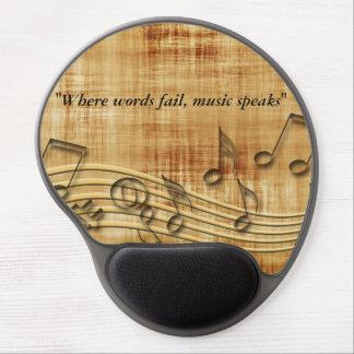 Musiknoten-Gel Mousepad Gel Mouse Pad