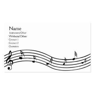 Musiknoten Visitenkartenvorlagen