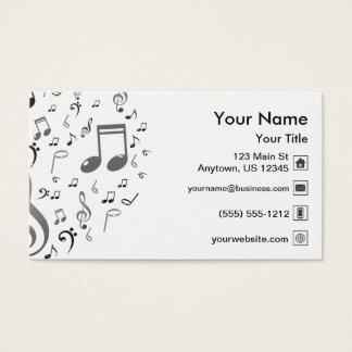 Musiknoten Visitenkarte