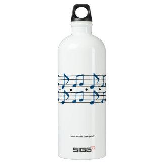 Musiknoten Wasserflaschen