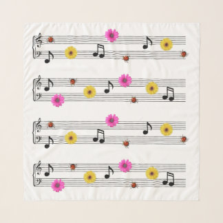 Musiknotenchiffon-Quadrat-Schal Schal