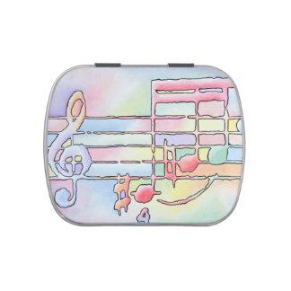 Musiknotensüßigkeitszinn Süßigkeitenbox