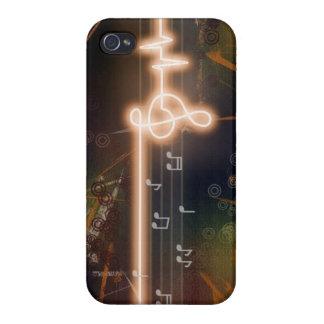 Musique au coeur iPhone 4 case