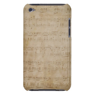 Musique de feuille antique coques barely there iPod