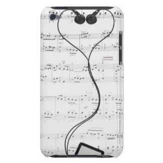 Musique de feuille et écouteurs étuis iPod touch