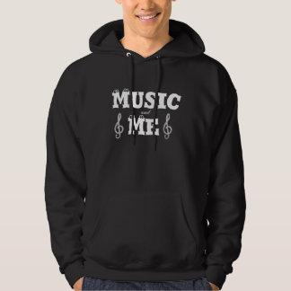 Musique et moi sweatshirt à capuche