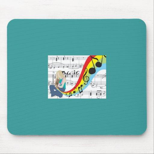 Musique notes couleurs tapis de souris