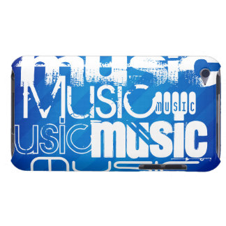 Musique ; Rayures bleues royales Coques iPod Case-Mate