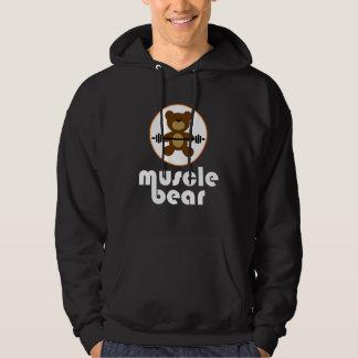 Muskel-Bärn-Teddybär-Weiß Hoodie