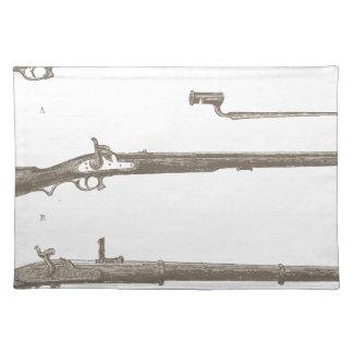 Musketen-alte Gewehr-Vintage antike Gewehre Stofftischset