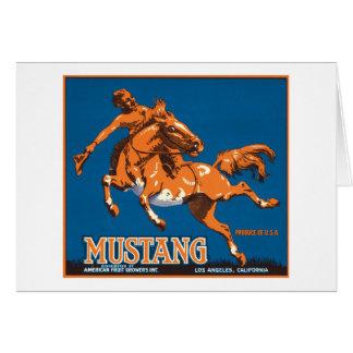Mustang-Frucht-Vintager Aufkleber Karte