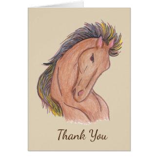 Mustang-Pferd Karte