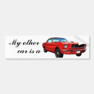 Mustang rouge autocollant de voiture