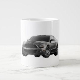 Mustang-Sport-Auto-handgemalte Kunst-Bürsten-Tasse Jumbo-Tassen