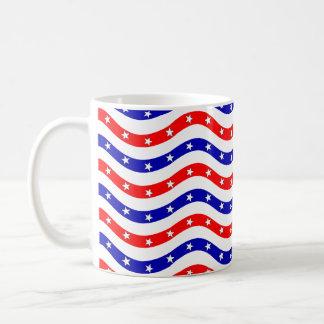 Muster-amerikanische Flagge schön Kaffeetasse