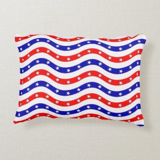 Muster-amerikanische Flagge Zierkissen