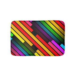Muster das 3D der hellen bunten Stripy jugendlich Badematte