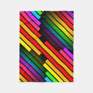 Muster das 3D der hellen bunten Stripy jugendlich Fleecedecke