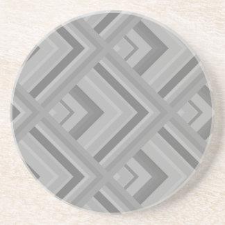 Muster der grauen Skala Sandstein Untersetzer