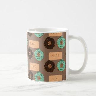 Muster der Krapfen u. der Nizza Kekse Tasse