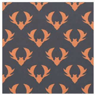 Muster der orange Schläger - Tiermuster Stoff