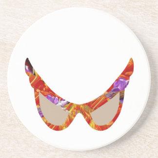 Muster der Sonnenbrille-n RedRose PinkRose Sandstein Untersetzer