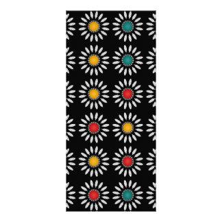 Muster der weißen Gänseblümchen Werbekarte