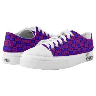 Muster des blauen Rotes Niedrig-geschnittene Sneaker