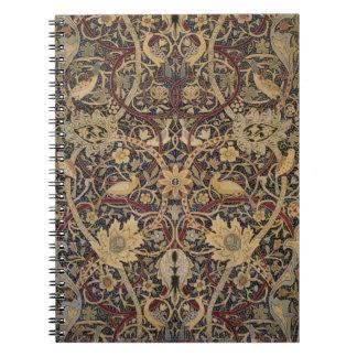 Muster-Foto-Notizbuch Williams Morris Spiral Notizblock