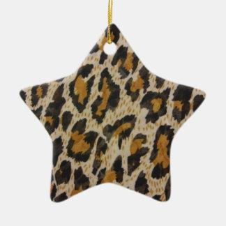 Muster -- Leopard Keramik Ornament